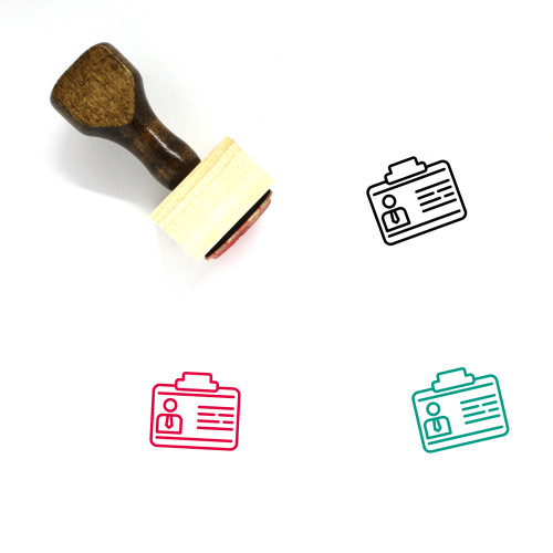 Business Contacts Wooden Rubber Stamp No. 6