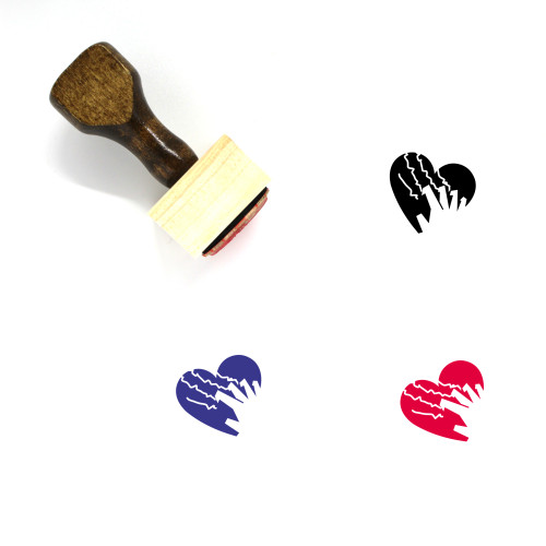 Love Hurts Wooden Rubber Stamp No. 1