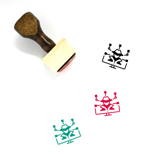Cyber Crime Wooden Rubber Stamp No. 16