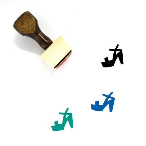 Open Toe Wooden Rubber Stamp No. 1
