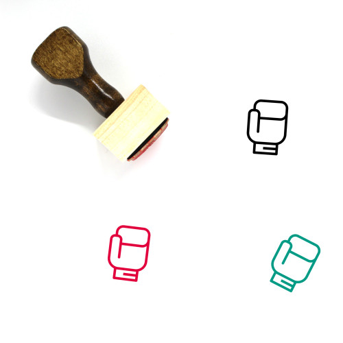 Boxing Wooden Rubber Stamp No. 35