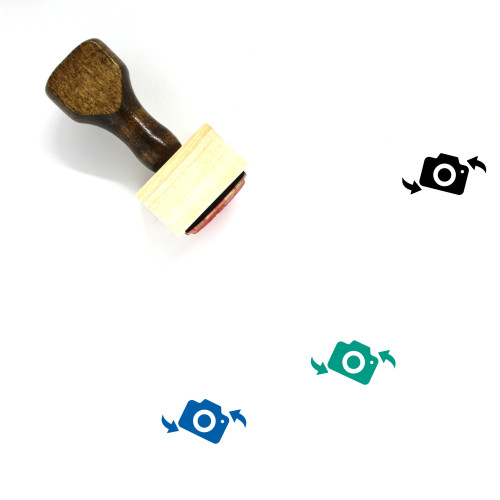 Rotate Camera Wooden Rubber Stamp No. 7