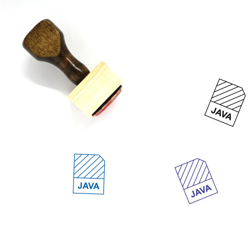 Java Wooden Rubber Stamp No. 7