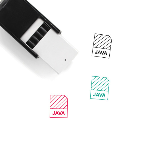 Java Self-Inking Rubber Stamp No. 7