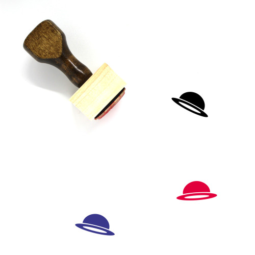 Hat Wooden Rubber Stamp No. 274