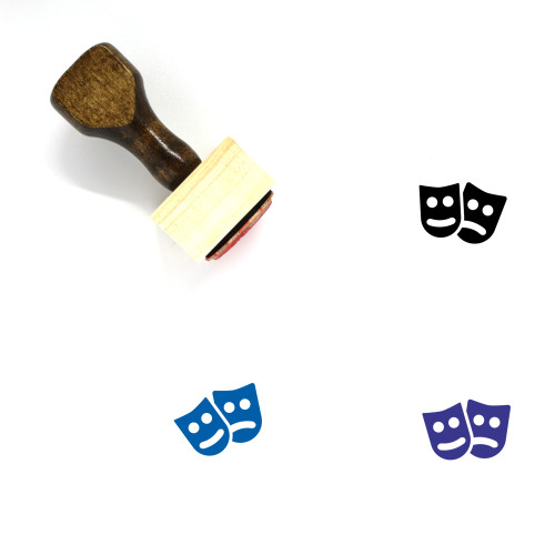 Drama Wooden Rubber Stamp No. 37