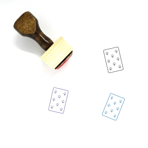 8 Of Spades Wooden Rubber Stamp No. 4
