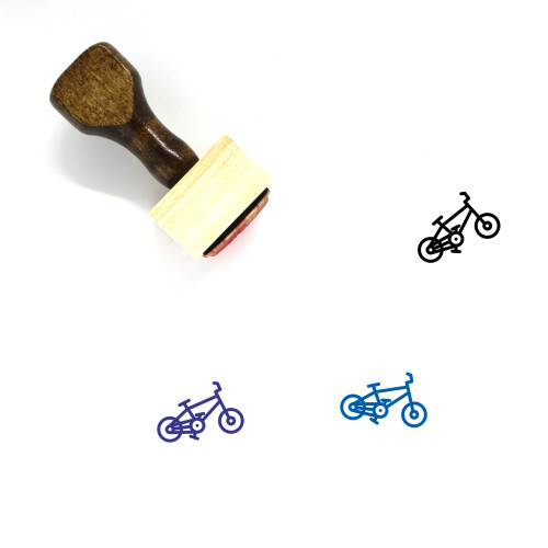 Cycling Wooden Rubber Stamp No. 41