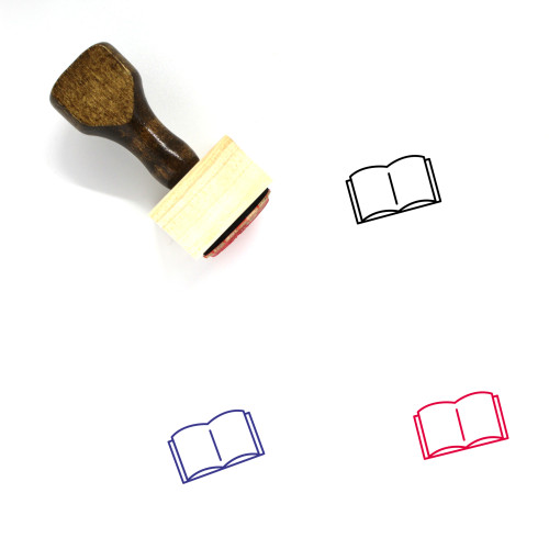 Book Wooden Rubber Stamp No. 716