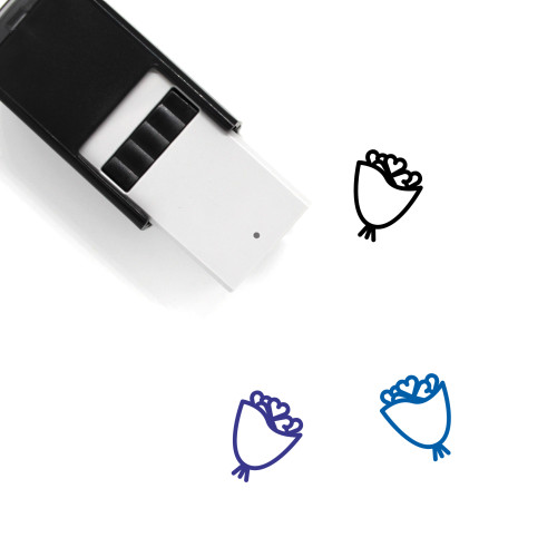 Trefoil Bouquet Self-Inking Rubber Stamp No. 1