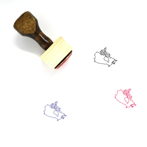 Map Of Canada Wooden Rubber Stamp No. 11