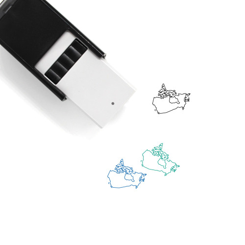 Map Of Canada Self-Inking Rubber Stamp No. 11