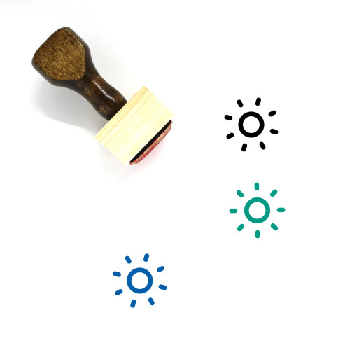 Sun Wooden Rubber Stamp No. 429