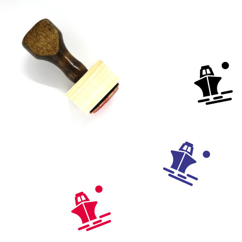 Ship Wooden Rubber Stamp No. 158