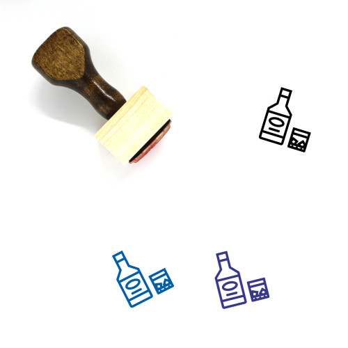 Whiskey Wooden Rubber Stamp No. 38
