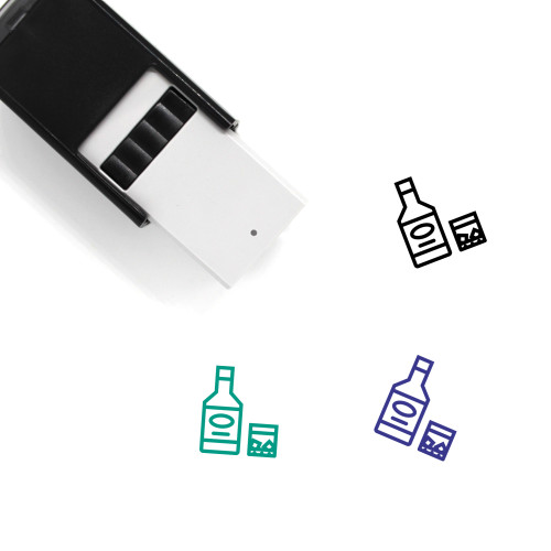 Whiskey Self-Inking Rubber Stamp No. 38