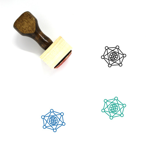 Global Network Wooden Rubber Stamp No. 53