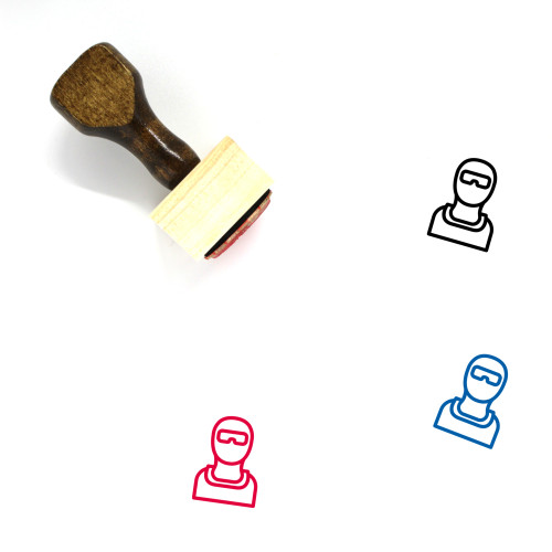 Terrorist Use Mask Wooden Rubber Stamp No. 1