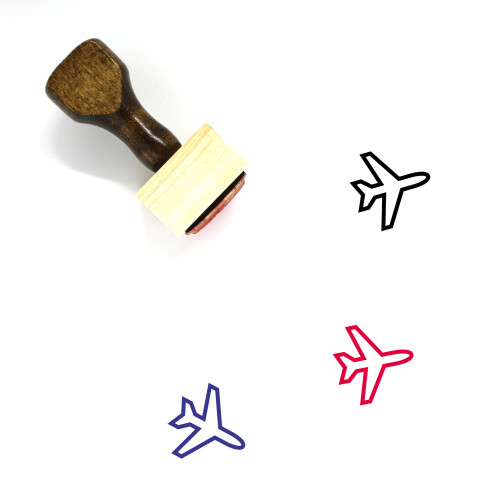 Plane Wooden Rubber Stamp No. 71