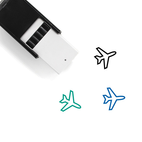 Plane Self-Inking Rubber Stamp No. 71