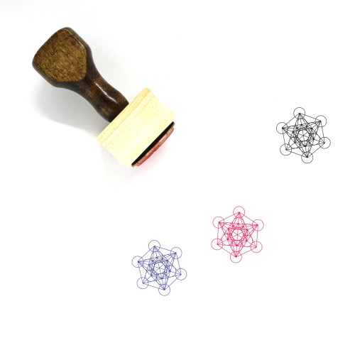 Metatron's Cube Wooden Rubber Stamp No. 3