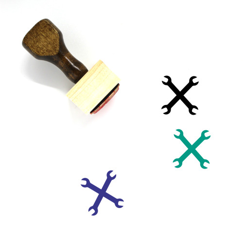 Wrenches Wooden Rubber Stamp No. 34