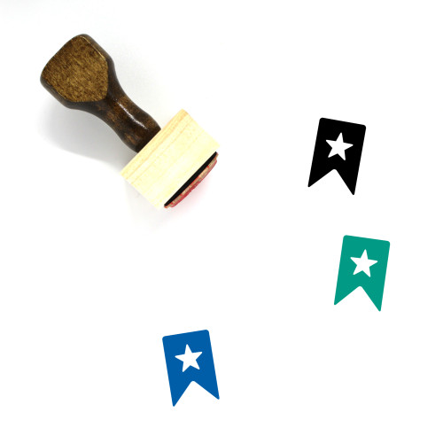 Bookmark Wooden Rubber Stamp No. 193