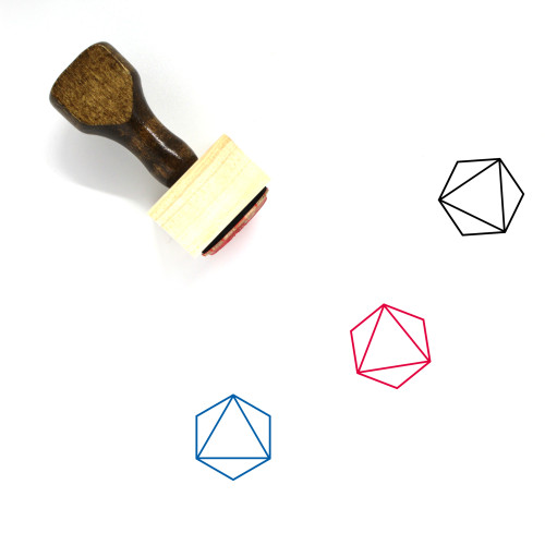 Octahedron Wooden Rubber Stamp No. 11