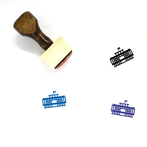 Inedependent Wooden Rubber Stamp No. 1