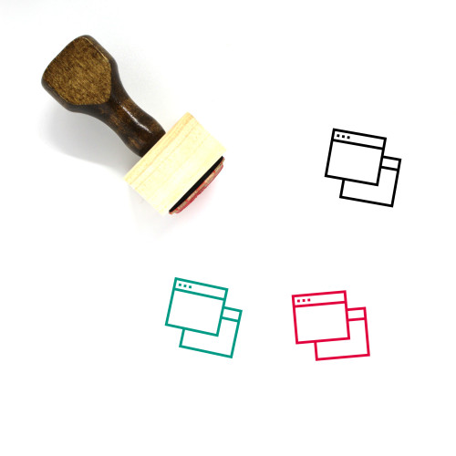 Browser Windows Wooden Rubber Stamp No. 4
