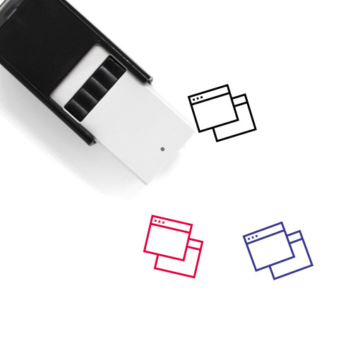 Browser Windows Self-Inking Rubber Stamp No. 4