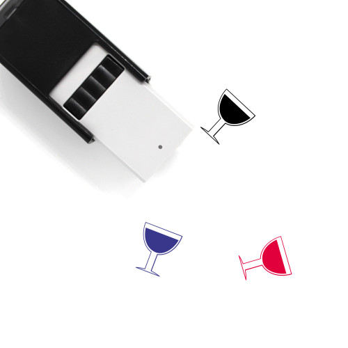 Wine Self-Inking Rubber Stamp No. 170