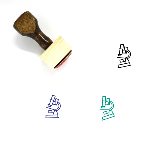 Microscope Wooden Rubber Stamp No. 89