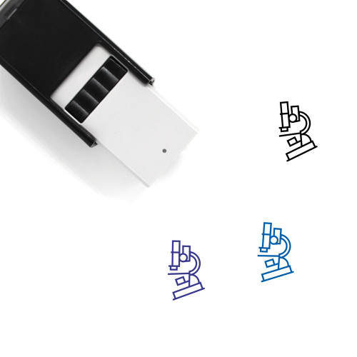 Microscope Self-Inking Rubber Stamp No. 89