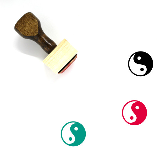 Yin And Yang Wooden Rubber Stamp No. 34
