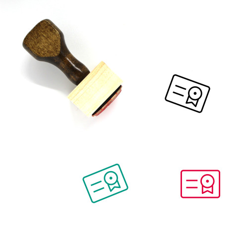 Degree Wooden Rubber Stamp No. 18