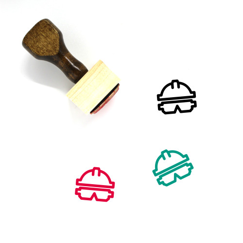Safety Gear Wooden Rubber Stamp No. 3