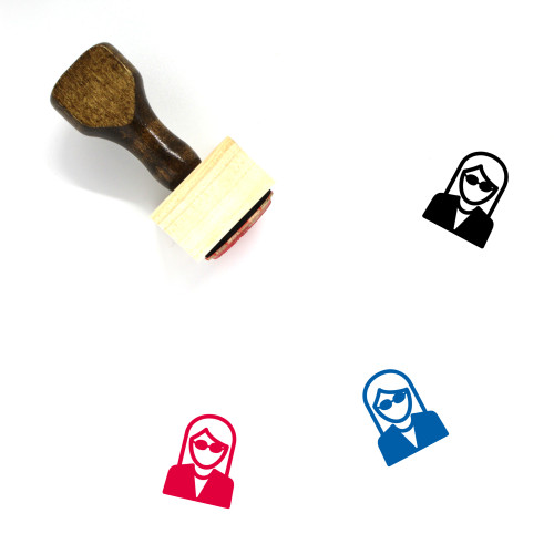 Secretary Wooden Rubber Stamp No. 35