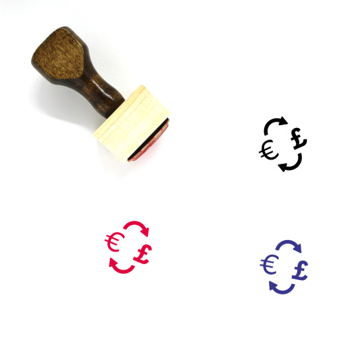 Currency Conversion Wooden Rubber Stamp No. 39