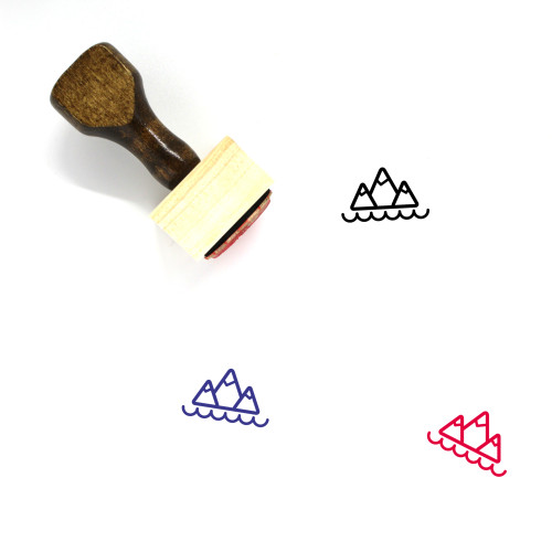 Mountains Wooden Rubber Stamp No. 285