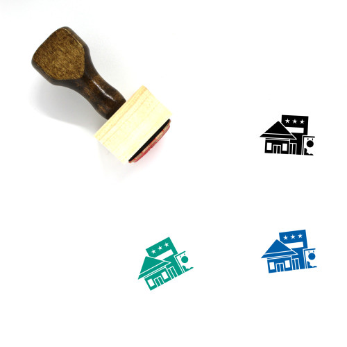 Bungalow Wooden Rubber Stamp No. 15