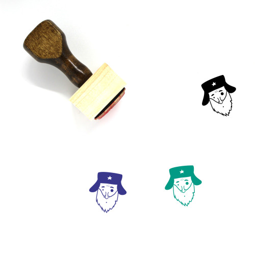 Old Man Wooden Rubber Stamp No. 60