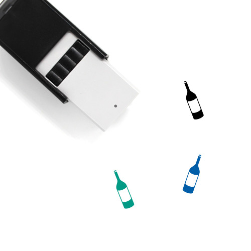 Wine Bottle Self-Inking Rubber Stamp No. 71