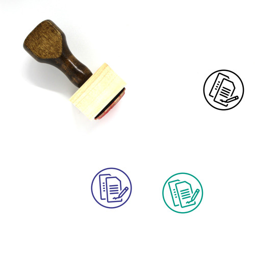 Contract Wooden Rubber Stamp No. 86