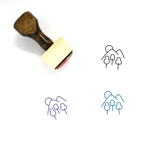 Hill Wooden Rubber Stamp No. 31
