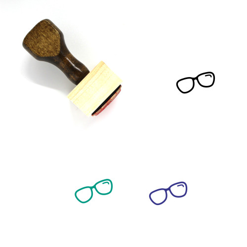 Glasses Wooden Rubber Stamp No. 272