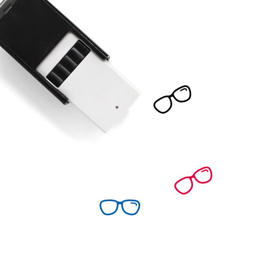 Glasses Self-Inking Rubber Stamp No. 272