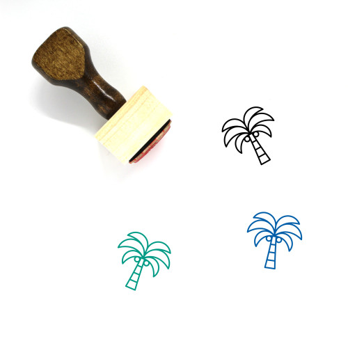 Palm Tree Wooden Rubber Stamp No. 206