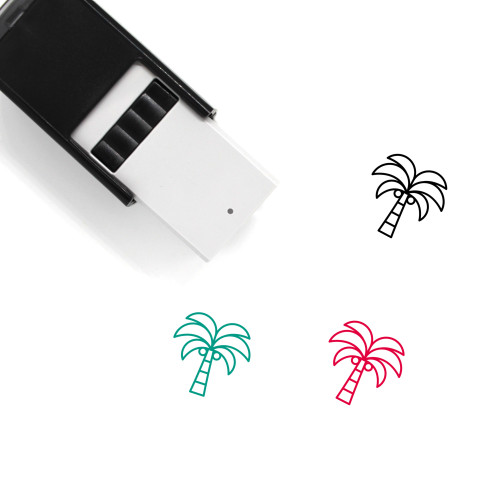 Palm Tree Self-Inking Rubber Stamp No. 206
