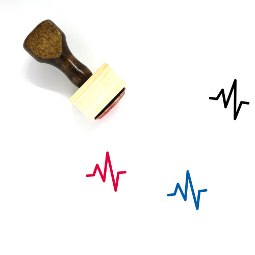 Heartbeat Wooden Rubber Stamp No. 69